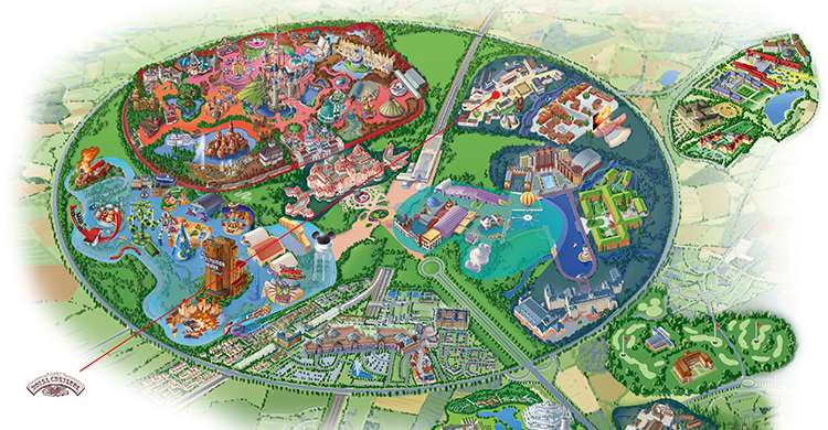 Oversigtskort over Disney's Hotel Cheyenne