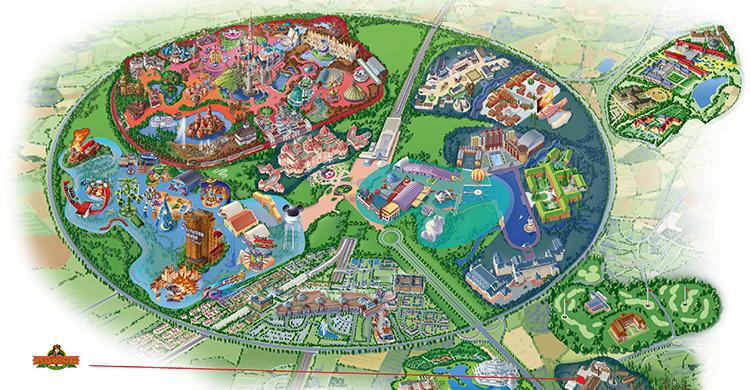 Oversigtskort over Disney's Davy Crockett Ranch