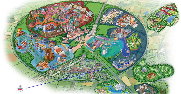 Oversigtskort over Disney's Newport Bay Club